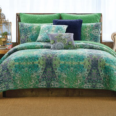 Posey Printed Velvet Quilt Size: Twin XL