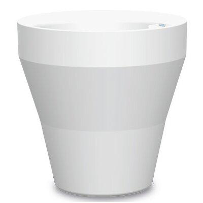 """Self-Watering Vinyl Pot Planter Color: Alpine White, Size: 29.72"""" H x 17.71"""" W x 17.71"""" D A607500"""