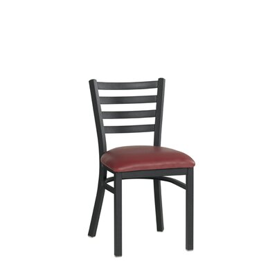 Side Chair Upholstery: Black
