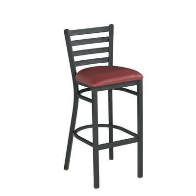 30.5 inch Bar Stool Upholstery: Red