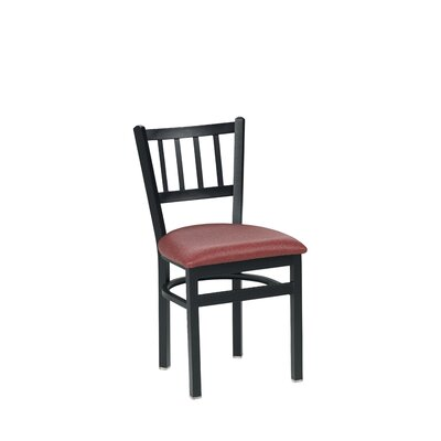 Side Chair Upholstery: Burgundy