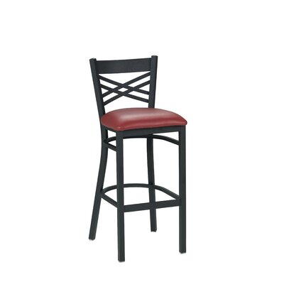 30.5 Bar Stool Upholstery: Black
