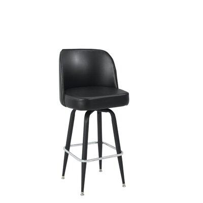 32 Swivel Bar Stool Upholstery: Burgundy