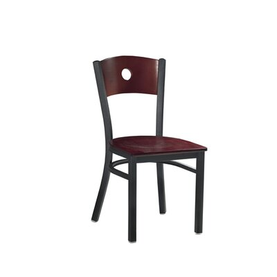 Side Chair Upholstery: Burgundy, Finish: Natural