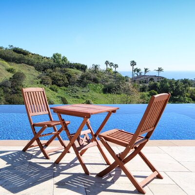 Glaser 3 Piece Bistro Set