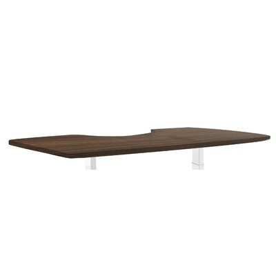 Ergonomic 1 H x 53 W Desk Table Top Finish: Walnut Product Photo 77