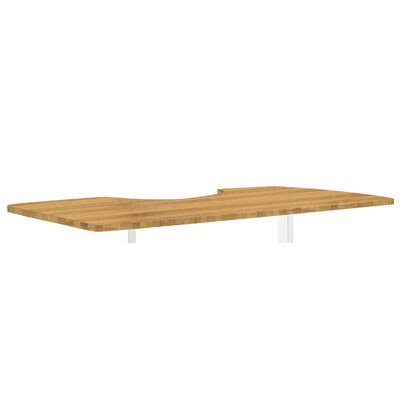 Ergonomic 1 H x 53 W Desk Table Top Finish: Bamboo