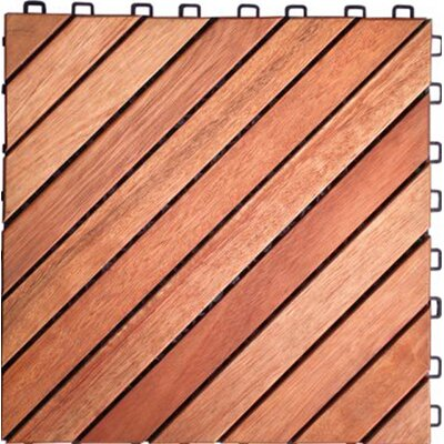 Acacia Hardwood 11.22 x 11.22 Interlocking Deck Tile