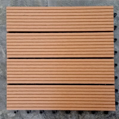 Composite Teak 12 x 12 Interlocking Deck Tiles