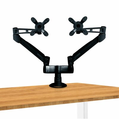 Dual Height Adjustable 2 Screen Desk Mount Finish: Black