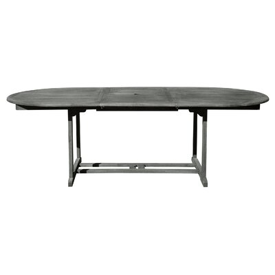 Densmore Outdoor Hand-Scraped Wood Dining Table