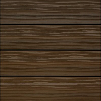 UltraShield Spanish Walnut Wood 12 x 12 Outdoor Composite Quick Deck Tile