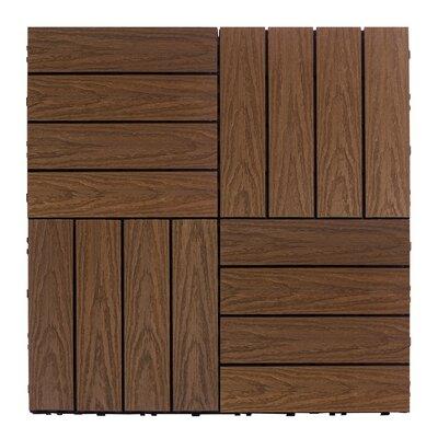 Naturale Composite 12 x 12 Interlocking Deck Tiles in Brazilian Ipe