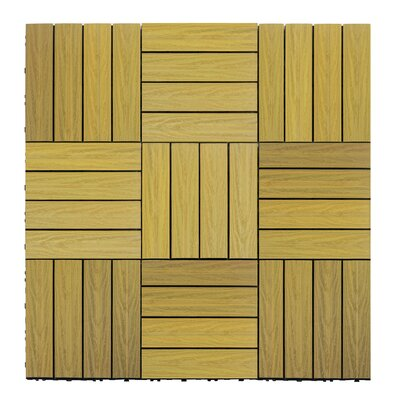 Naturale Composite 12 x 12 Interlocking Deck Tiles in English Oak