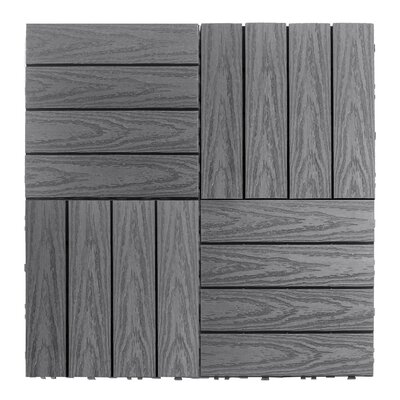 Naturale Composite 12 x 12 Interlocking Deck Tiles in Westminster Gray