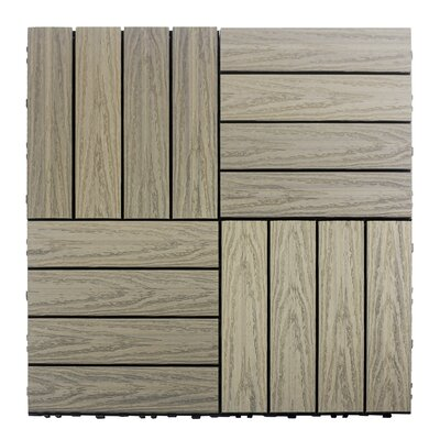 Naturale Composite 12 x 12 Interlocking Deck Tiles in Roman Antique
