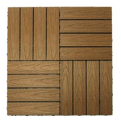 Naturale Composite Interlocking Deck Tiles in Peruvian Teak