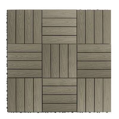 Naturale Composite 12 x 12 Interlocking Deck Tiles in Egyptian Stone Gray
