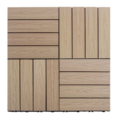 Naturale Composite 12 x 12 Interlocking Deck Tiles in Canadian Maple