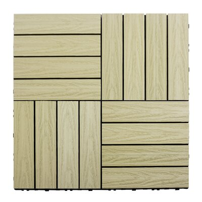 Naturale Composite 12 x 12 Interlocking Deck Tiles in Sahara Sand
