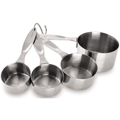 4-Pieces Stainless Steel Measuring Cup Set 5184255
