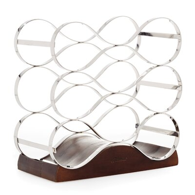 9 Bottle Tabletop Wine Bottle Rack