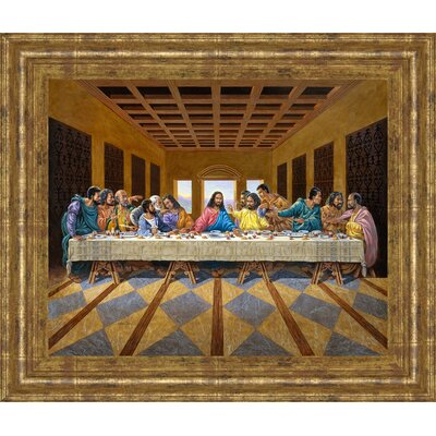 'Last Supper Inspired' Framed Painting Print