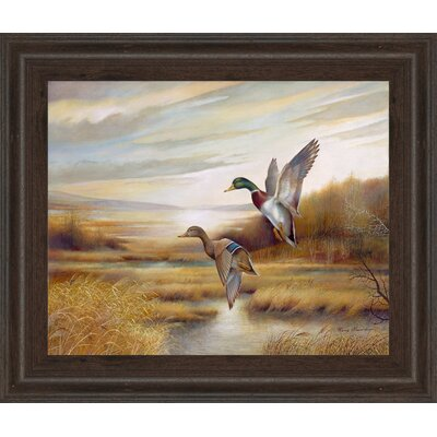 'Promotional Line Ducks' Framed Painting Print