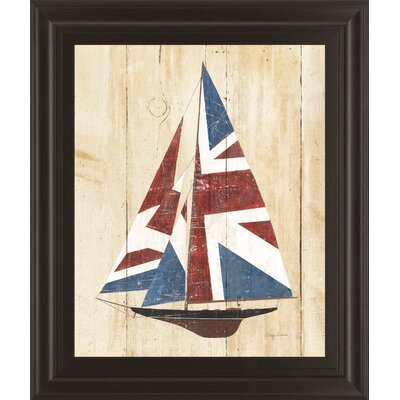 British Flag Sailboat By Avery Tillmon Framed Graphic Art