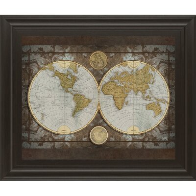 'World Map' Framed Graphic Art