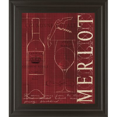 Wine Blueprint II by Marco Fabiano Framed Vintage Advertisement 8151