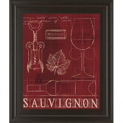 Wine Blueprint IV by Marco Fabiano Framed Vintage Advertisement 8152