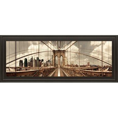 Brooklyn Bridge (sepia) By Shelley Lake Framed Photographic Print