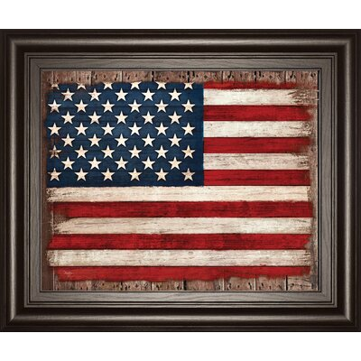 Old Glory by Mollie B Framed Graphic Art 8244