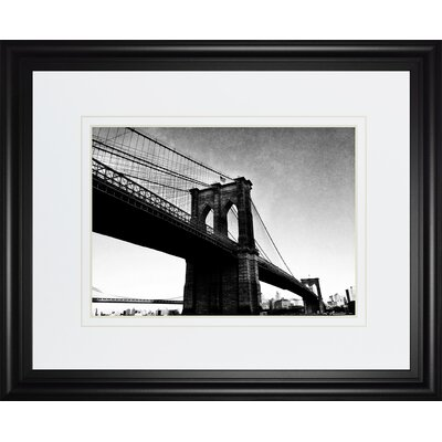 Bridge Of Brooklyn B W 1 By Acosta Framed Photographic Print