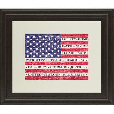 Flag of Inspiration by Maria Mendez Framed Graphic Art DM5374
