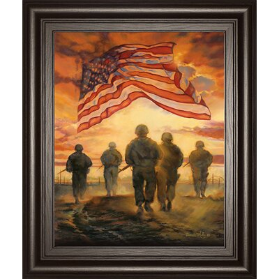 Bless America's Hero's by Bonnie Mohr Framed Painting Print 8162