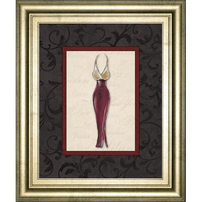 'Fashion Dress II' Framed Painting Print on Paper 4900