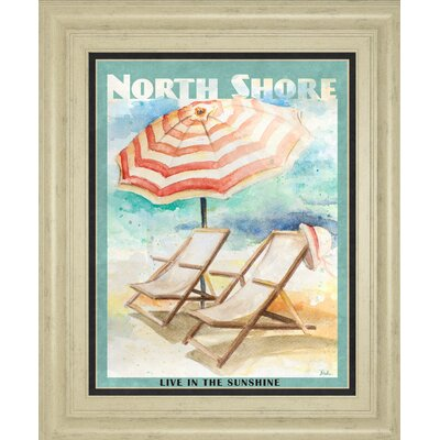 'Shore Poster II' by Patricia Pinto Framed Graphic Art 8358