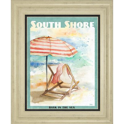 'Shore Poster I' by Patricia Pinto Framed Graphic Art 8357