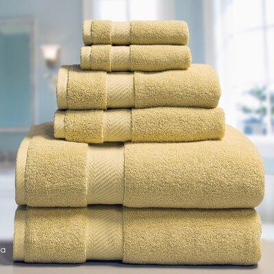 Low Twist Weave 6 Piece Towel Set Color: Raffia