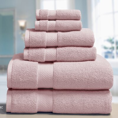 Low Twist Weave 6 Piece Towel Set Color: Lilac