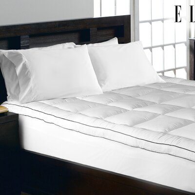 1000 Thread Count Cotton Rich Pinstripe Mattress Pad Size: Queen