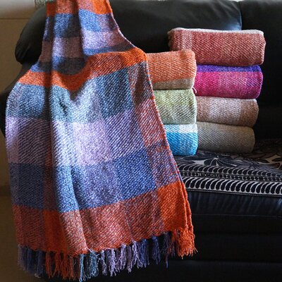 Plaid Design Chenille Throw