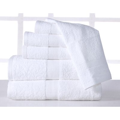 Farnworth Plush 6 Piece Towel Set Color: White