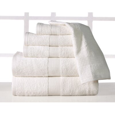 Supersoft Plush 6 Piece Towel Set Color: Ivory