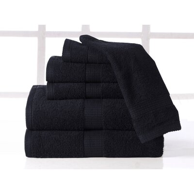 Plush 6 Piece Towel Set Color: Onyx