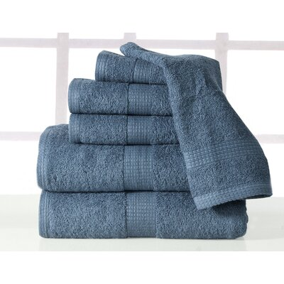Farnworth Plush 6 Piece Towel Set Color: Denim