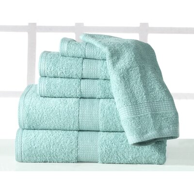 Farnworth Plush 6 Piece Towel Set Color: Aqua