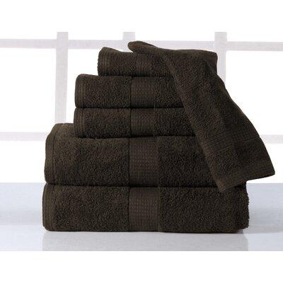 Farnworth Plush 6 Piece Towel Set Color: Chocolate